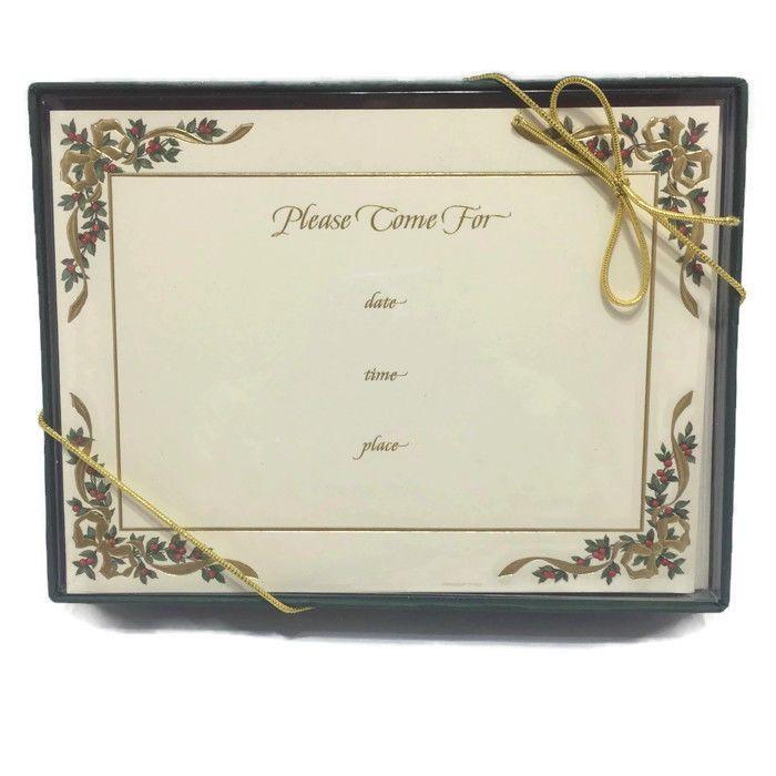 William Arthur Holiday Invitation Winter Party Christmas Fine Stationery #WilliamArthur #Christmas