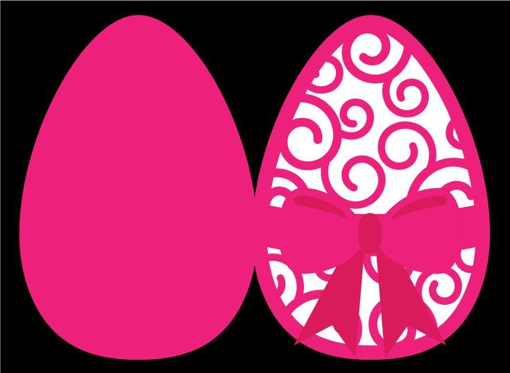 beautiful cutting file - Easter Egg Card