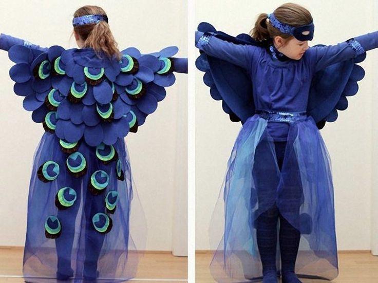 Tutoriel DIY: Coudre un costume de paon pour enfant via DaWanda.com