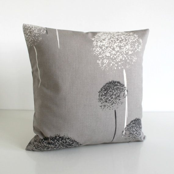 Scatter Cushion, Throw Pillow Cover, 16 Inch Pillow Cover, 16x16 Cushion Cover, Scandinavian Pillow, Accent Pillow - Clocks Taupe Grey