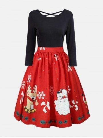 GET $50 NOW   Join RoseGal: Get YOUR $50 NOW!https://m.rosegal.com/plus-size-dresses/plus-size-christmas-criss-cross-print-dress-1407215.html?seid=61nqdli89e4r1m1k04i88nkkr1rg1407215