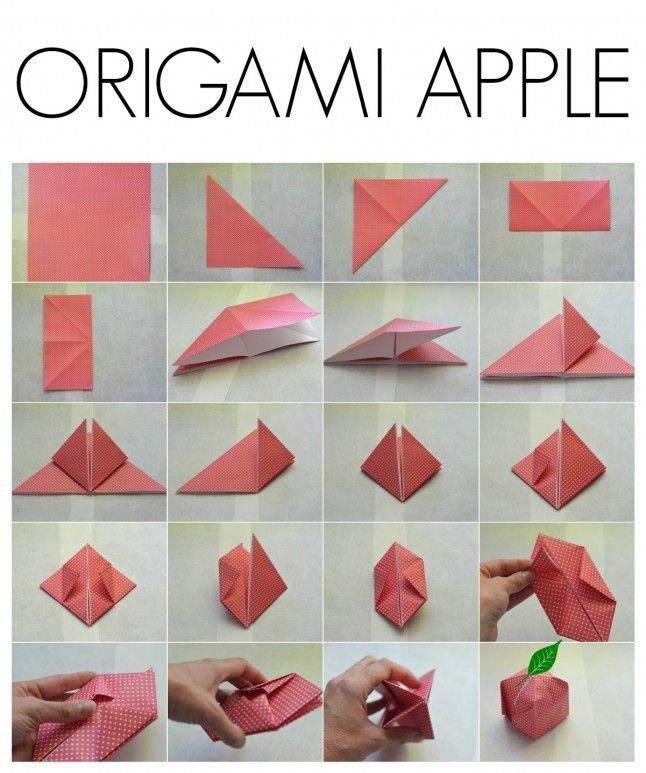 origami apple directions