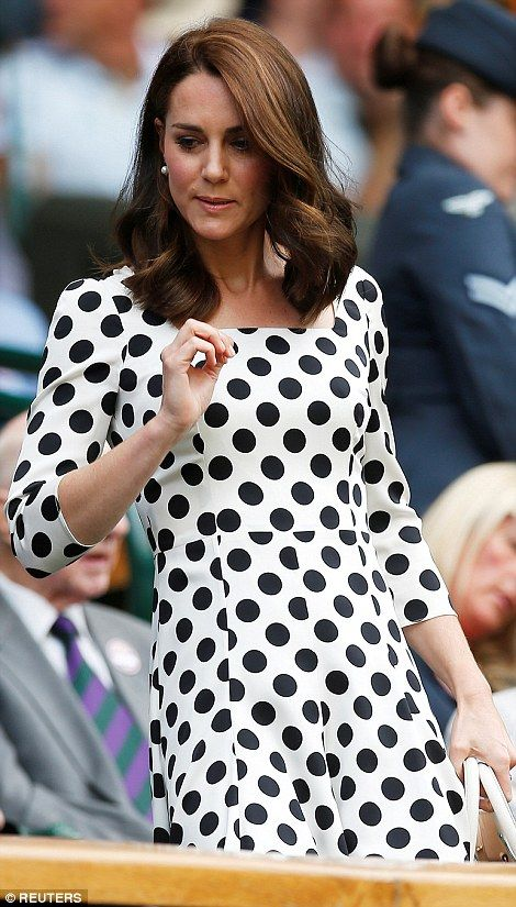 dailymail: Wimbledon Day 1, July 3, 2017-Duchess of Cambridge arrives for the Murry-Bublik match