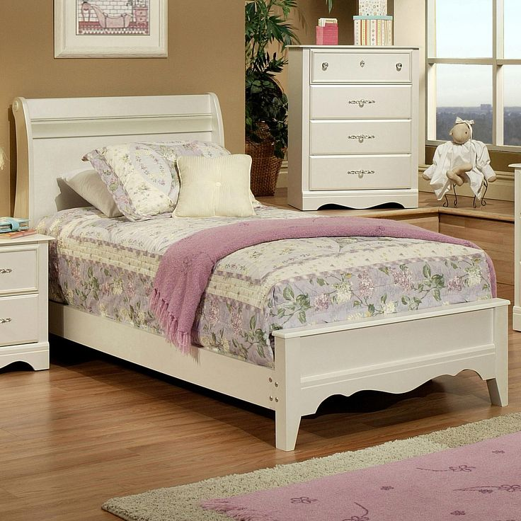 Sandberg Furniture Enchanted Twin Sleigh Bed - Item Number: 51466+51466R