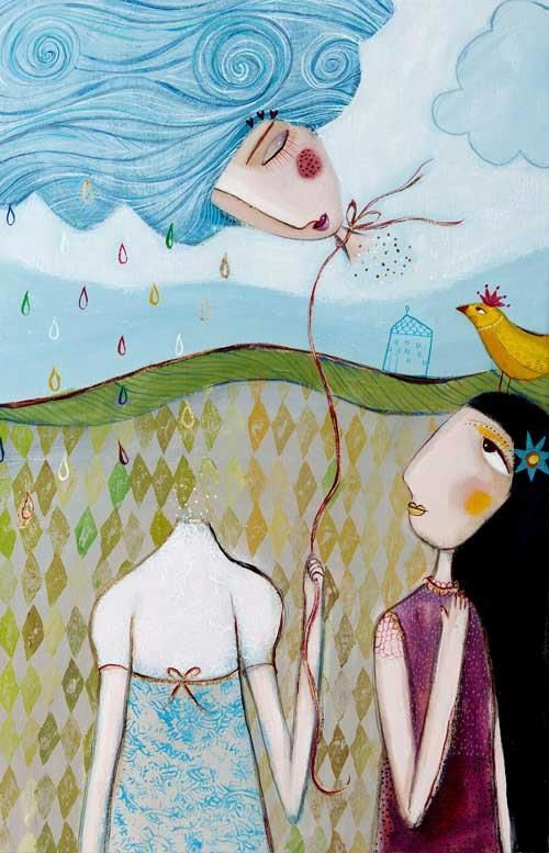 "Camilla Hyllén www.camillahyllen.com Acrylic on canvas ""A daydream"""