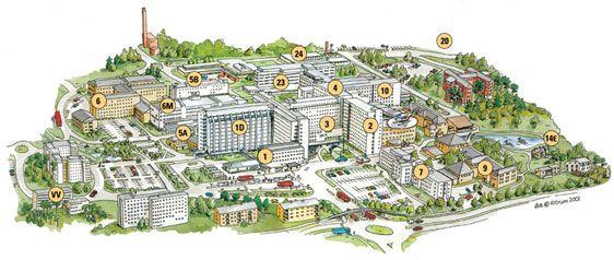 Umeå Hospital Area Campus map