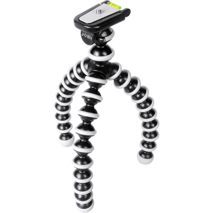 Um tripé que ajuda a estabilizar a câmera para fotografias melhores e mais nítidas em qualquer lugar, deixando o equipamento fixo em grades, postes ou qualquer outro lugar.