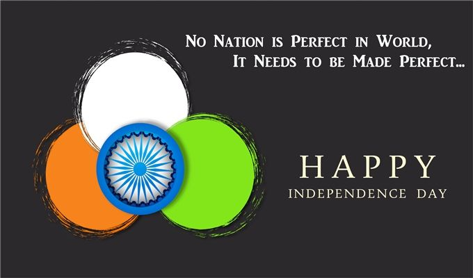 Happy Independence Day Greeting Quote Wallpaper