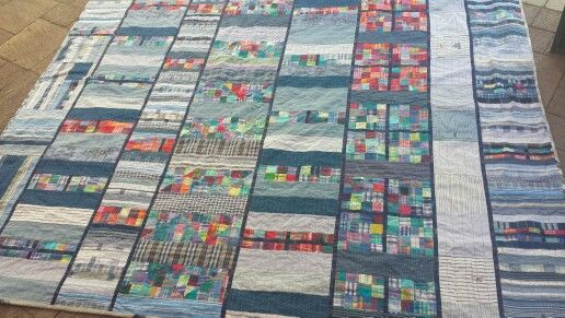 Denim quilt by Ilene Atkins.