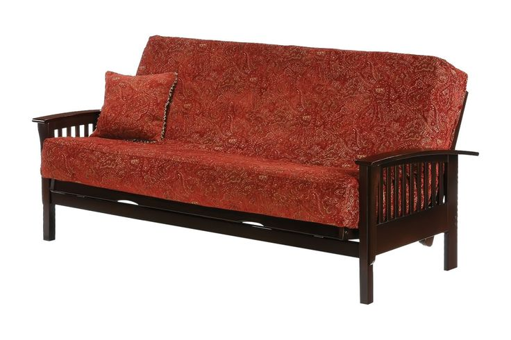 Winchester Queen Futon Frame in chocolate finish