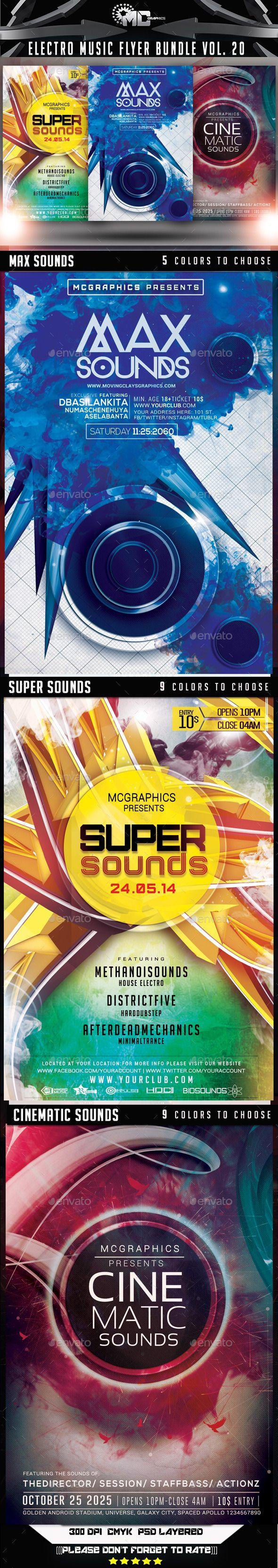 Electro Music Flyer Bundle Vol. 20