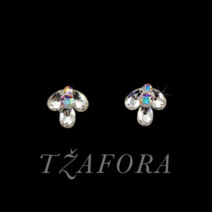 """Strictly Confidential"" - Swarovski ballroom earrings. Ballroom dance jewelry, ballroom dance dancesport accessories. www.tzafora.com Copyright ©️️️️️️️ 2017 Tzafora."