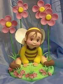 BUBBLE BEE WITH FLOWERS