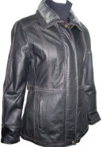 4022 Real Fur Lined PREMIUM Grade Real Genuine Black Soft Supple Light Lambskin Leather Stadium Jacket Laydown Collar, Zipper Front Closure, Zip Off Fake Fur Extra Collar + Lapel + Placket, Lined, ZIP OUT SECTION REAL REX FUR VELOUR LINER, Petite Regular Plus Size
