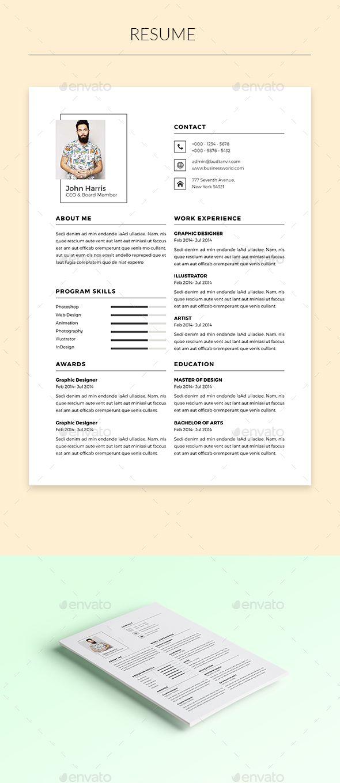 Resume Templates Indesign Mesmerizing 100 Best Cv Images On Pinterest  Resume Design Cv Template And Resume