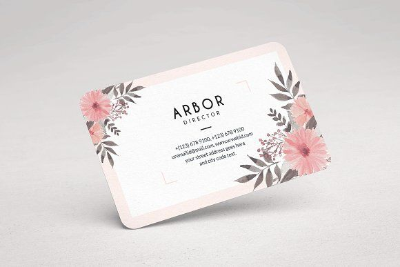 Vintage Floral Business Card Floral Business Cards Business Card Design Business Card Template Design