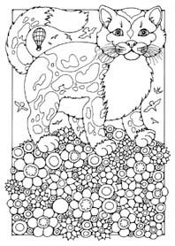 17 Best Images About Cats Dogs Coloring Pages For Adults On Pinterest