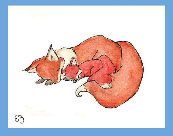 $16 Mom and Baby: Wall Decor, Babies, Nursery Art Walls, Nurseries, Baby Prints, Baby Foxes, Fox Print