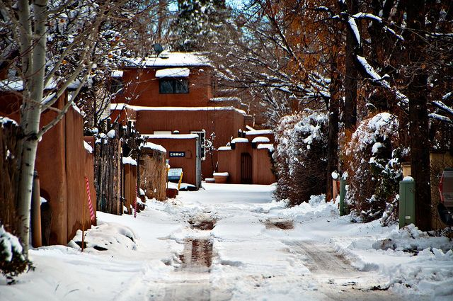 Santa Fe Snow - For locals and tourists alike, Santa Fe becomes magical during winter's snows.