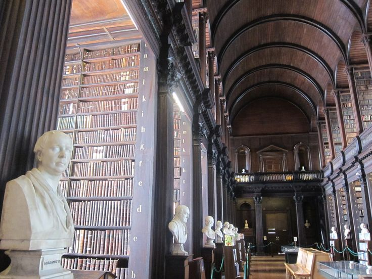 Beautiful library at the Trinity College in Dublin, just after The Book of Kells exhibit.