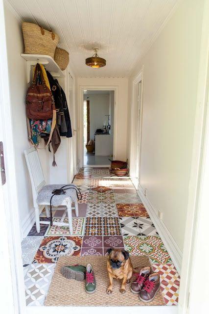 Patchwork de carreaux de ciment pour décorer une entrée ou un couloir de manière originale