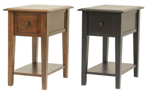 narrow end table solid wood with drawer 16 x 24 country tables and solid wood. Black Bedroom Furniture Sets. Home Design Ideas