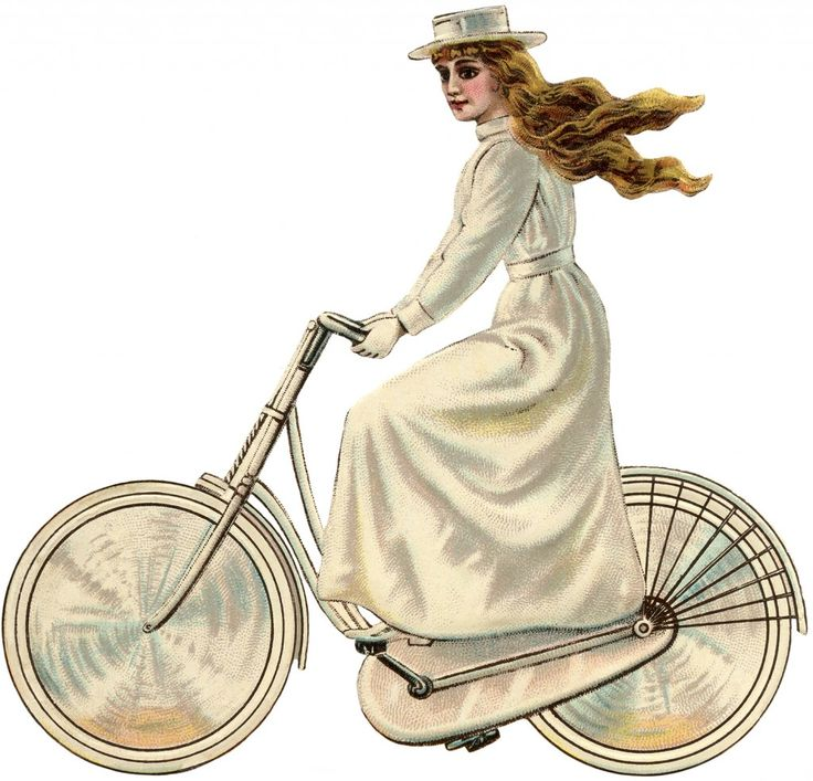 For some reason, she reminds me of  Wizard of Oz' Miss Gulch (later to be the Wicked Witch!)   Vintage Bicycle Girl Edwardian