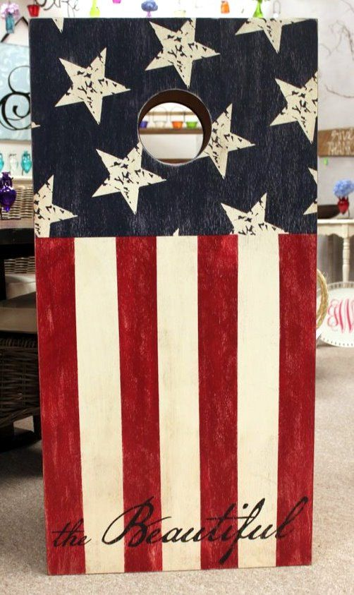 america the beautiful ch 001k cornhole set 24x48 custom painted