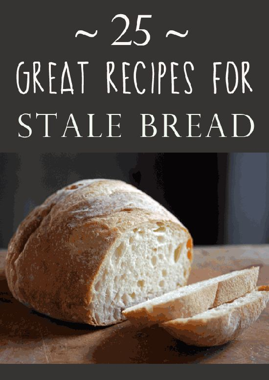 """It's a shame to waste any kind of bread--even the sliced bread that stays """"fresh"""" for an disturbingly long period of time on my pantry shelf. Lucky for me (and you), there are LOTS of ways to use stale bread."""