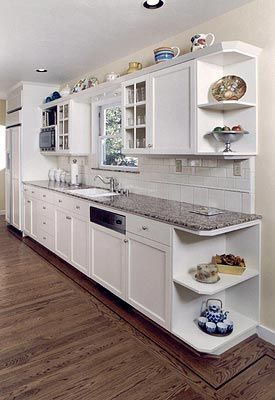 White Country Kitchen Photos, this is basically the layout I'll have in my new kitchen... open shelves at the end or no?