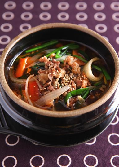 牛肉と野菜のピリ辛スープ さっぱり仕立て のレシピ・作り方 │ABCクッキングスタジオのレシピ | 料理教室・スクールならABCクッキングスタジオ