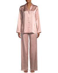 ecc1290c0b La Perla - Silk Long-sleeve Pajama Set - Lyst