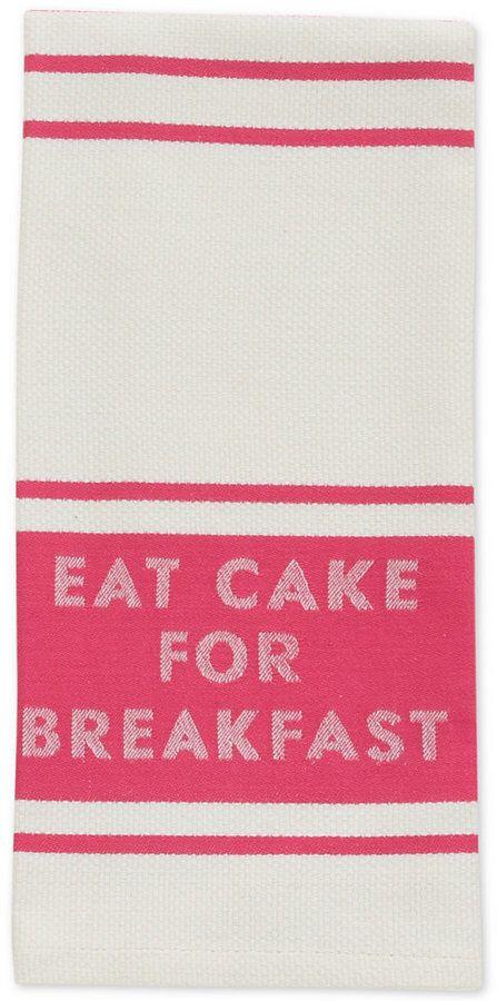 """kate spade new york """"Eat Cake for Breakfast"""" Diner Stripe Kitchen Towel. #afflink"""