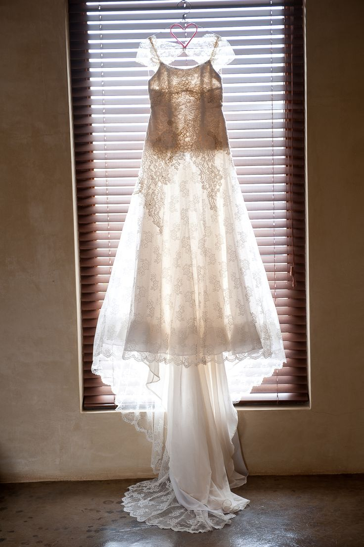 Vintage lace & crochet #EcoBride gown for Carol-Anne Frey; at Red Ivory Lodge.