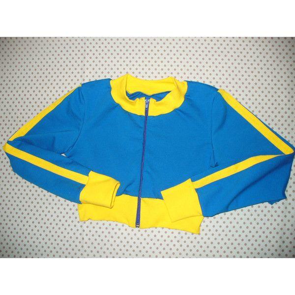 Pokemon GO trainer jacket Cosplay costume (425 NOK) ❤ liked on Polyvore featuring costumes, pokemon costumes, blue halloween costume, pokemon halloween costumes, cosplay halloween costumes and role play costumes