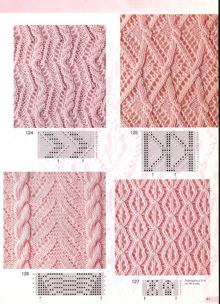 KNITTED lace & cables
