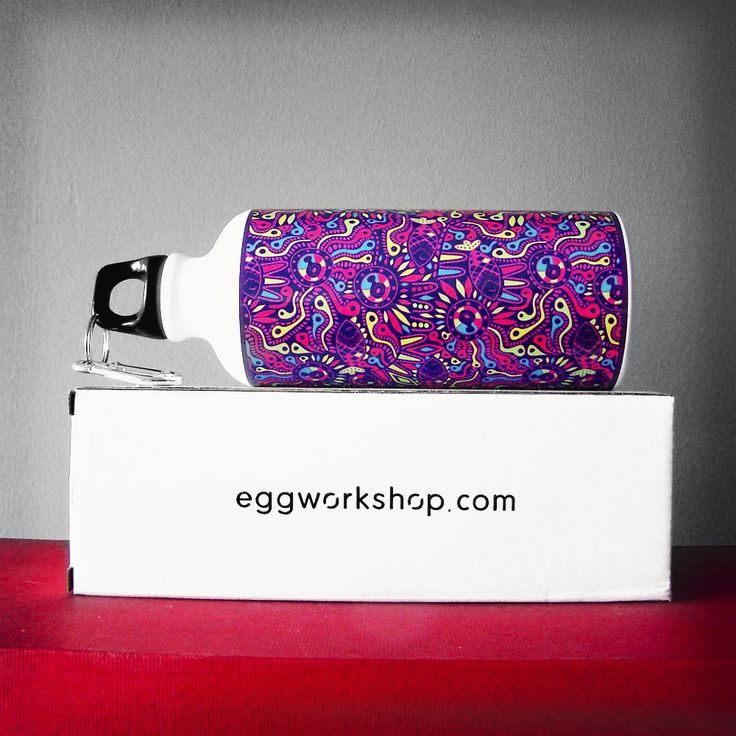 Psyco Colors Squeeze Water Bottle 600ml Aluminium. www.eggworkshop.com #eggworkshop