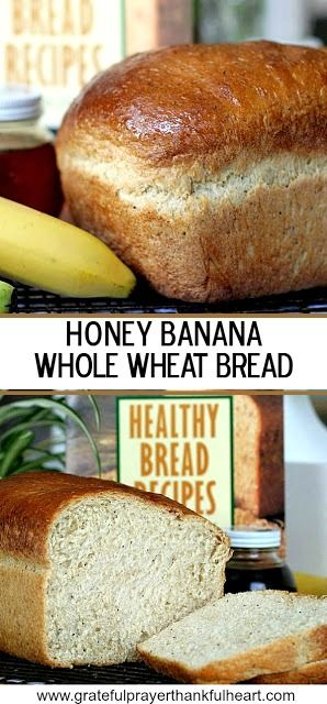 Don't toss out those extra bananas over-ripening on the counter. Very ripe bananas are a great reason to bake a loaf of Honey Banana Whole Wheat Bread. Banana, honey and poppy seeds give this bread a light, fluffy texture. Use a bread machine to make the dough then bake in a loaf pan or let the machine complete the whole process.