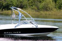 Big Air Torrent Tower on a Bayliner // boat tower // universal wakeboard tower // wakeboard towers for sale // boat wakeboard tower // boat towers for sale // cheap wakeboard tower // folding wakeboard tower // collapsible wakeboard tower // aluminum wakeboard tower //