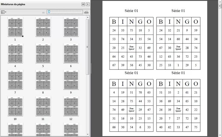 Cartelas De Bingo Download - Arquivo Digital Download - R$ 1,10 em Mercado Livre