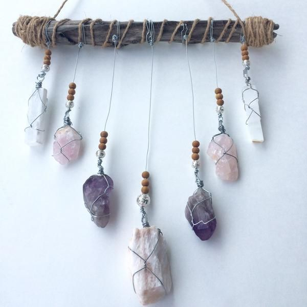 Made with materials from the earth, as Mother Nature intended. Hand crafted with raw, untampered crystals, powerful crystal clusters, and natural driftwood. C