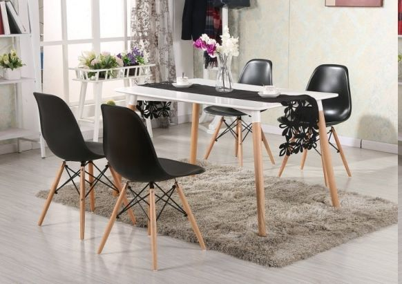 Mesa eames 120 4 sillas eames decoraci n de for Sillas montevideo