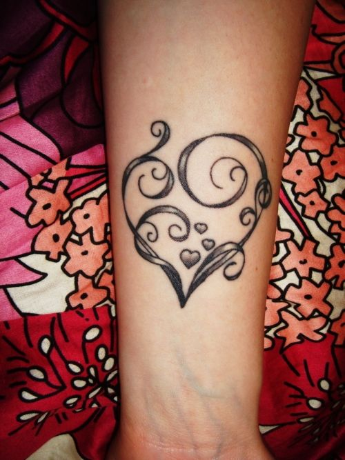 Heart Tattoo On My Arm. I'm going to add William and Rachel to this. I think...