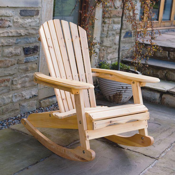 'Bowland' Garden Patio Wooden Adirondack Rocking Chair - Image 1