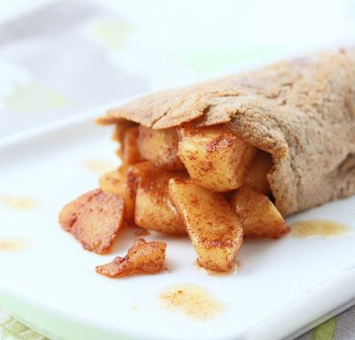 Low Carb Crepes w/ Warm Apple Compote (Gluten Free) - I Breathe... I'm Hungry...