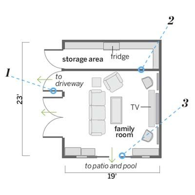 Floor Plans Of A Garage That Was Converted Into A Rec Room