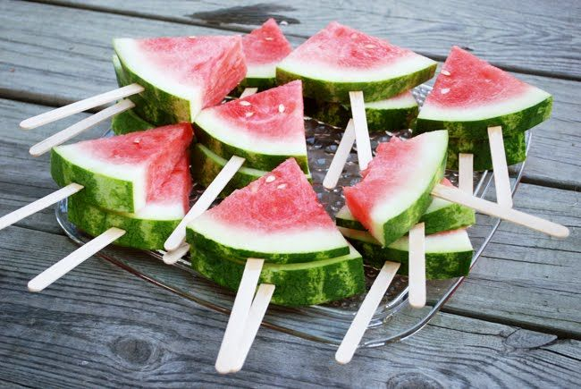 Country Picnic Party...genius way to serve watermelon!!!