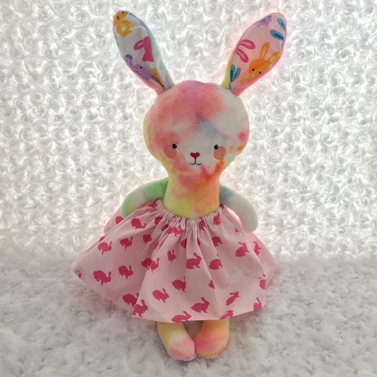 Tie dye dress up bunny