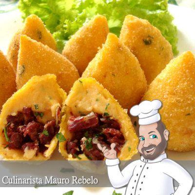 Coxinha de Abóbora com Carne Seca - Mauro Rebelo