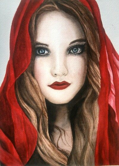 """""""Red"""" by Heather Steely Category watercolor"""